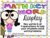 Math Key Words Bulletin Board Display   All 4 Operations  