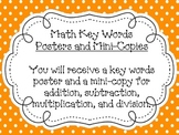Math Key Words Poster Set