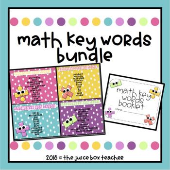 Math Key Words Poster & Sort BUNDLE