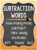Math Key Words Posters