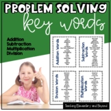 Math Word Problems Key Words Lists Posters