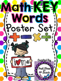 Math Key Words Posters (Polka Dots)