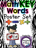 Math Key Words Posters (Zebra)