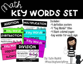 Math Key Words Set