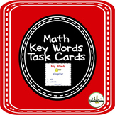 Math Key Words Task Cards
