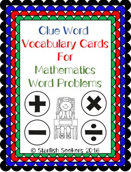 Math Key Words - Vocabulary Clue Words for Mathematics Word Problems