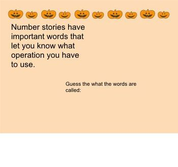 Math: Key Words for All Operations to Help Solve Number Stories/Word Problems