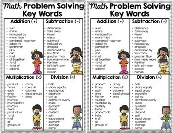 math key words for problem solving notebook anchor charts tpt. Black Bedroom Furniture Sets. Home Design Ideas