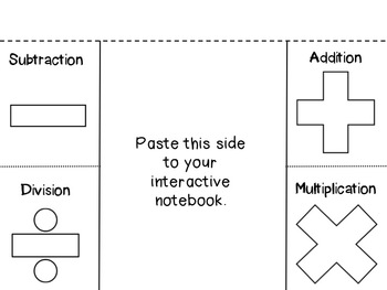 Math Keyword Foldable and Translating Expression Practice Sheet