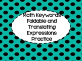 Math Keyword Foldable and Translating Expression Practice Sheet