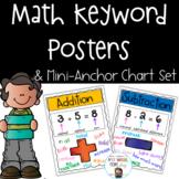 Math Keyword Poster Set and Mini-Anchor Charts