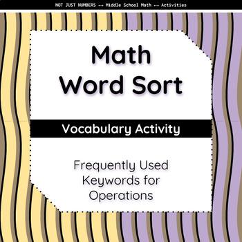 Math Keywords - Word Sort Activity