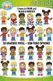 Math Kid Characters Clipart {Zip-A-Dee-Doo-Dah Designs}