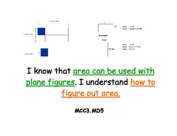 Math Kid Friendly Common Core Standards for 3rd Grade