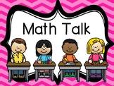 Math Kid Talk Posters