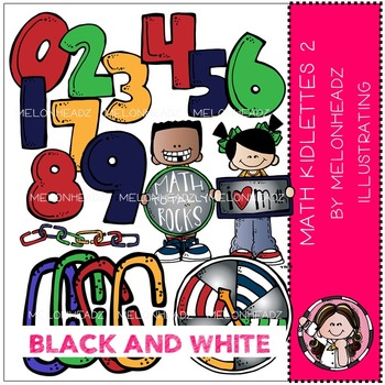 Math Kidlettes 2 by Melonheadz BlLACK AND WHITE