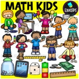 Math Kids Clip Art Bundle (Educlips Clipart)