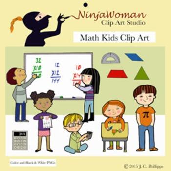 Math Kids Clip Art