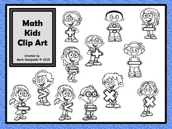 Math Kids Clip Art