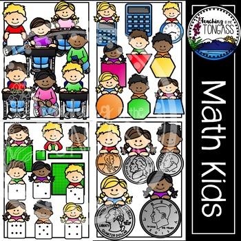 Math Clipart MEGA Bundle (Math Kids Clipart)