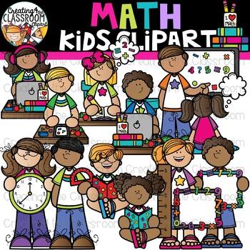 Math Kids Clipart {Math Clipart}