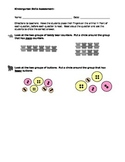 Math Kindergarten Assessments - Set #1