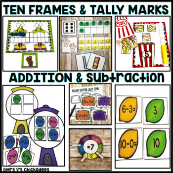 Math Kindergarten Centers for the Year