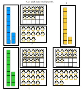Math Kindergarten Common Core Penguin Counting to 20 Activity (Visual-Autism)