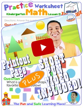 Math LESSON 13 ~ VIDEO & PRINTOUT ~ Two-Dimensional Shapes