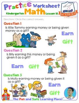 Math LESSON 18 ~ VIDEO & PRINTOUT ~ Earned and Things Given