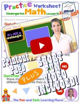 Math LESSON 14 ~ VIDEO & PRINTOUT ~ It's the Same Shape!