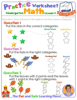 Math LESSON 9 ~ VIDEO & PRINTOUT ~ Sorting by Numbers