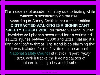 "Math Lab ""Dangers of Texting While Walking"""