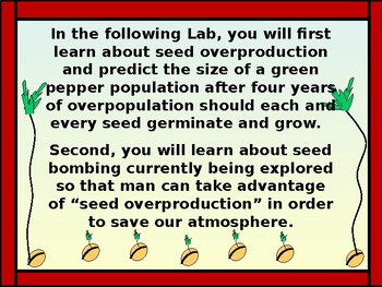 Math Lab: Exponential Functions and Seed Overproduction vs Time
