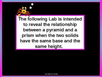 Activity Math Lab:  Investigating Volume
