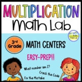 Multiplication Math Lab - Leveled Math Centers