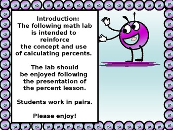 Math Lab:  Percents