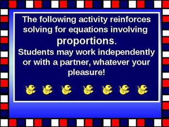 Activity Math Lab:  Proportions