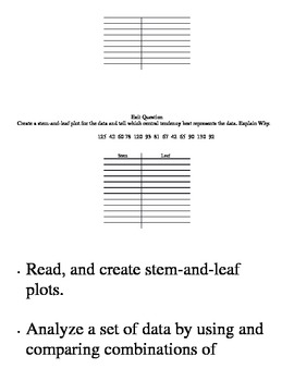 Math Lab: Stem and Leaf Plots