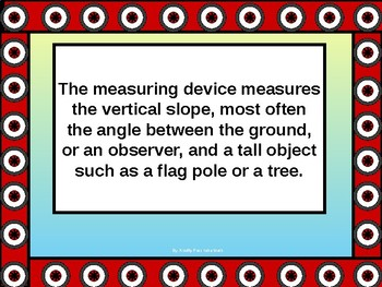 Math Lab The Clinometer and Measuring Inaccessible Heights