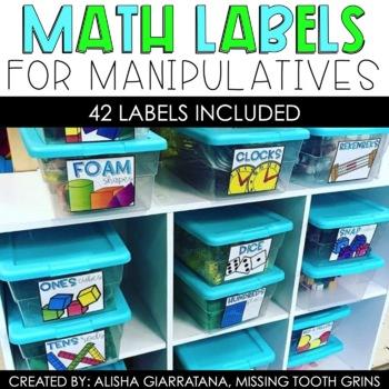 Math Labels For Manipulatives