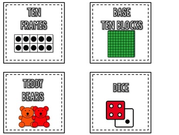 Math Labels and more - white square version