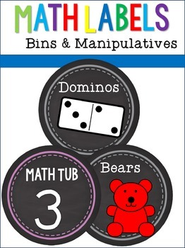 Math Labels for Bins and Manipulatives