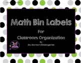 Math Labels for Classroom Organization