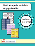 Math Labels for Manipulatives - 40 page bundle!