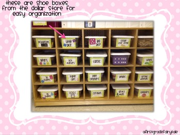 Math Labels for Organizing Math Tools in Green Chevron