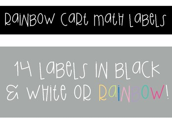 Math Labels for Rainbow Cart