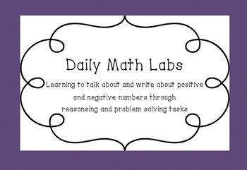Math Labs: Real world Math Activities with Positive & Negative Numbers