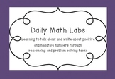 Math Labs: Real world Math Activities with Positive & Nega