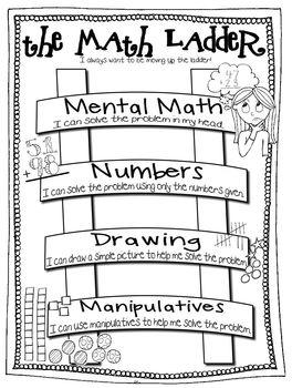 Math Ladder Anchor Chart